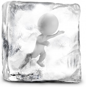 Man Frozen In Ice