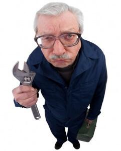 Appliance repair service man