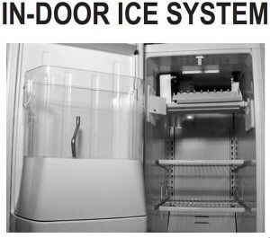 Whirlpool in-door ice system