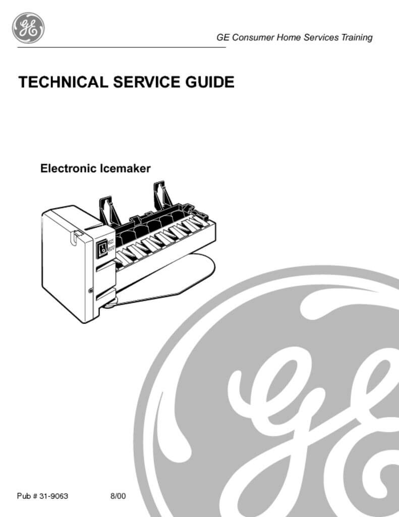 GE Electronic Ice maker Service Manual - ApplianceAssistant.com ...
