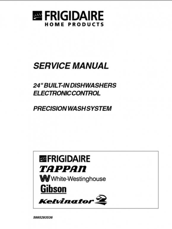 Frigidaire Dishwasher Repair Service Manual