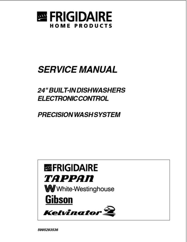 frigidaire electronic control dishwasher service manual rh applianceassistant com frigidaire dishwasher maintenance manual frigidaire dishwasher troubleshooting manual