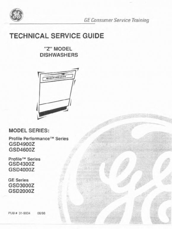 GE and Profile Dishwashers Repair Service Manual