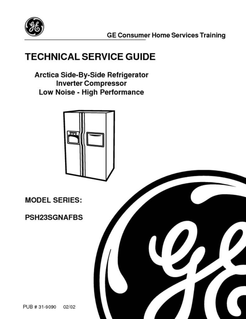 GE Arctica Refrigerator Service Manual - ApplianceAssistant com
