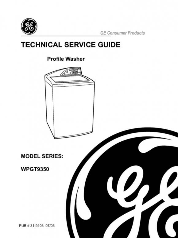 GE Harmony Washer Service Manual