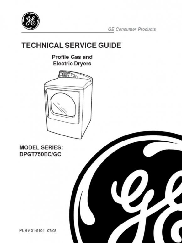 GE Harmony Dryer Service Manual