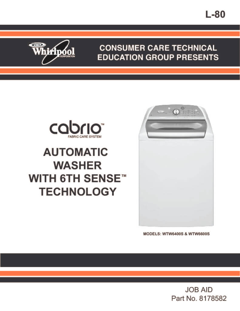 whirlpool washing machine service manual
