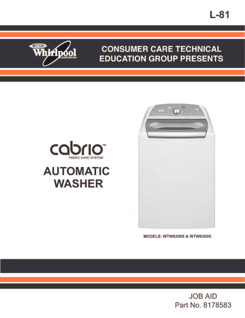 whirlpool cabrio washer repair manual download applianceassistant rh applianceassistant com whirlpool duet washer and dryer instruction manual Whirlpool Cabrio Problems