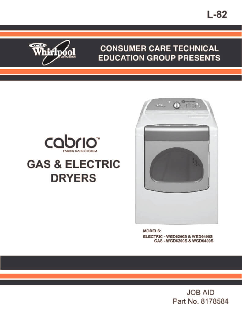 Whirlpool Cabrio Dryer Service Manual Download Applianceassistant Wiring Diagram