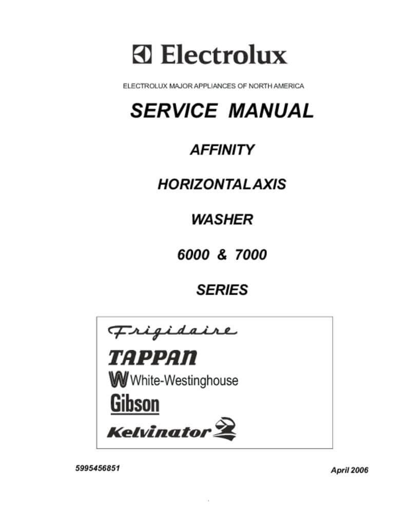 frigidaire affinity front load washer repair manual. Black Bedroom Furniture Sets. Home Design Ideas