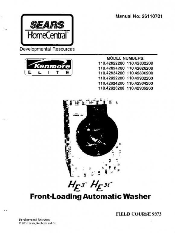 sears washing machine repair service