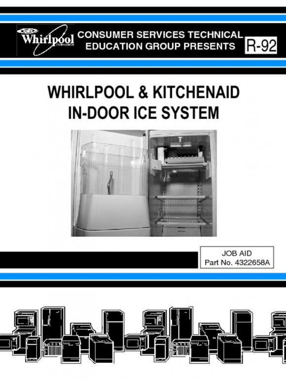 Whirlpool In-Door Ice Maker Repair Service Manual