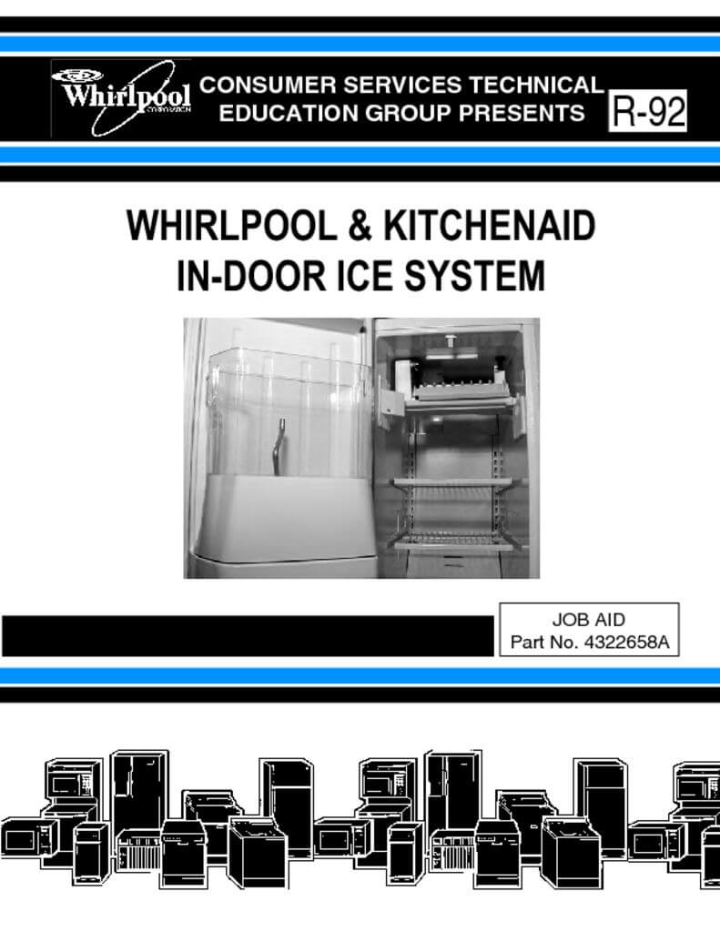 Whirlpool In Door Ice System Service Manual