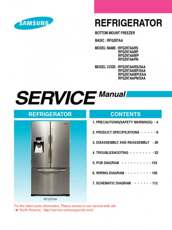 samsung refrigerator rfg297aa Repair Manual
